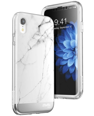 For iphone XR Case Cover 6.1 inch SUPCASE UB Stella Premium Hybrid Shinning Glitter Marble Case WITH Built-in Screen Protector