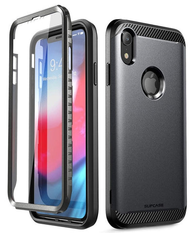 For iPhone XR Case 6.1 inch SUPCASE UB Neo Series Full-Body Protective Dual Layer Armor Cover with Built-in Screen Protector