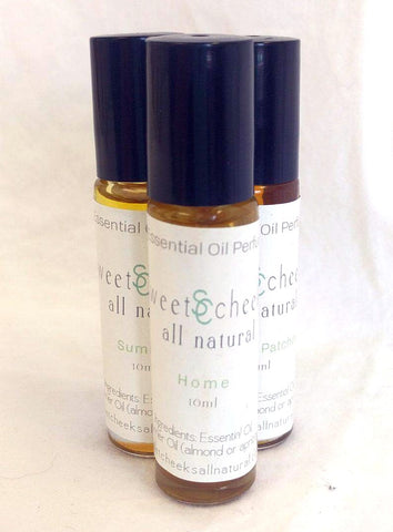 Essential Oil Perfume, Home- a mix of amber, vetiver, cedar wood and orange, in a  10 ml Roll On