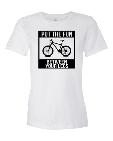 Women's Short Sleeve Put The Fun Between Your Legs T-Shirt