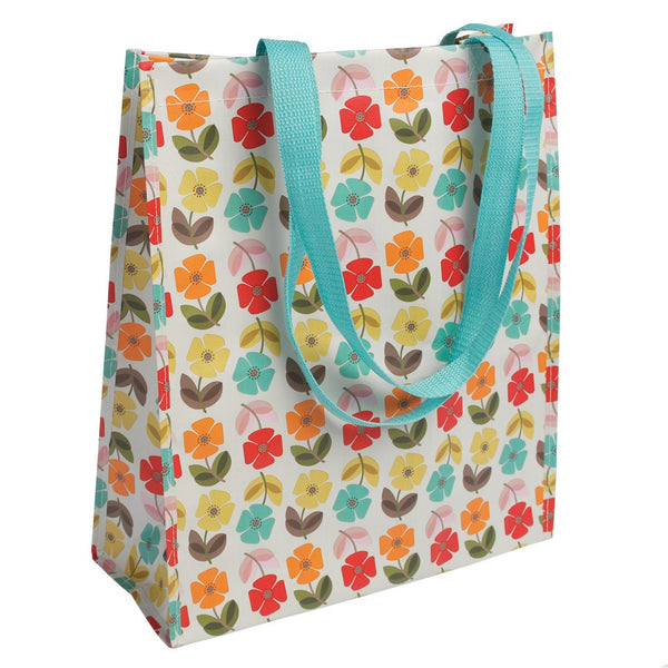 Mid Century Poppy Shopper Bag