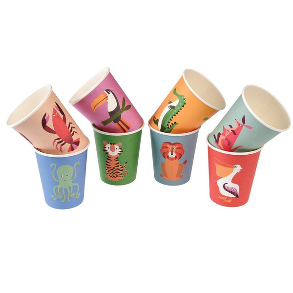 Colorful Creatures Paper Cups Set
