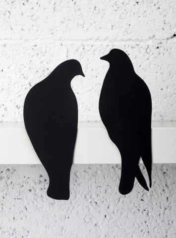 Metal Decorative Love Birds