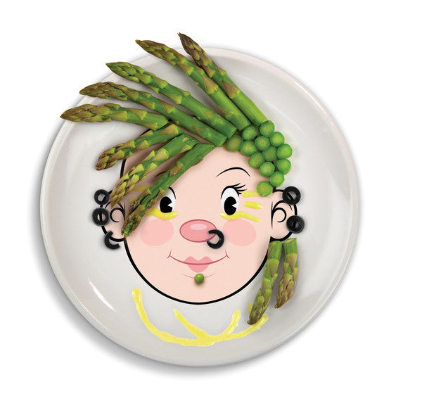 Ms Food Face- Dinner Plate