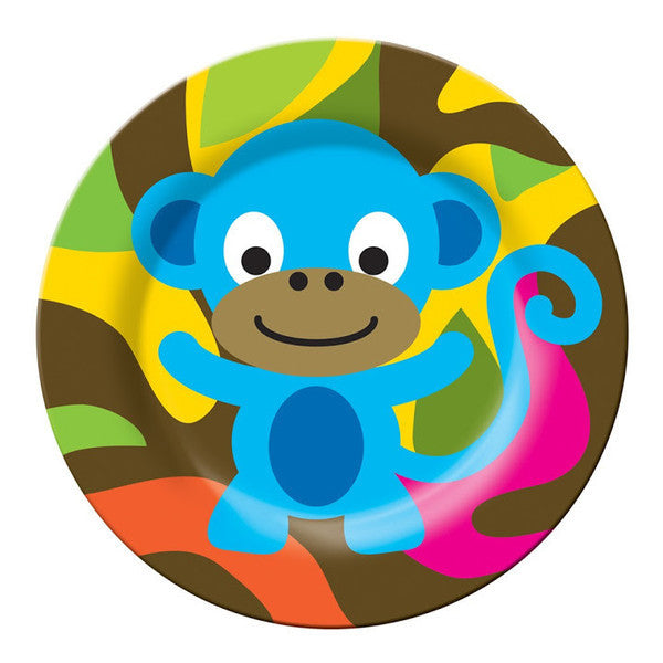 Jungle Kids Plate- Monkey