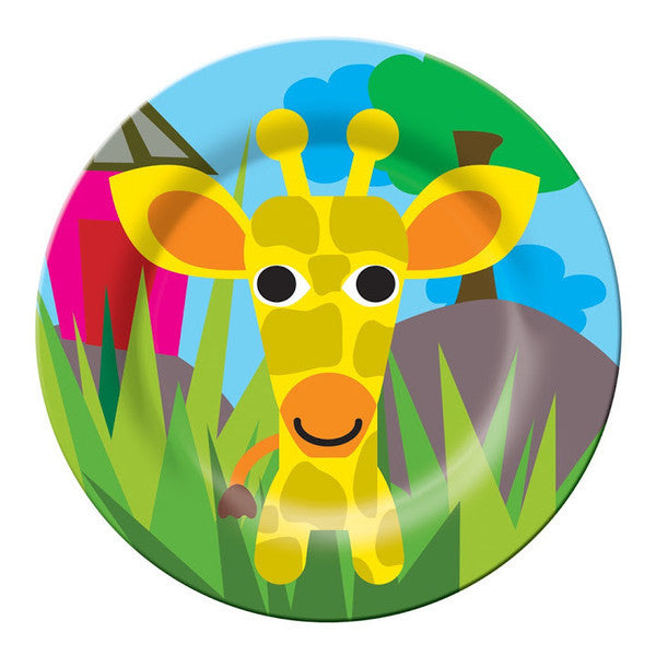 Jungle Kids Plate- Giraffe