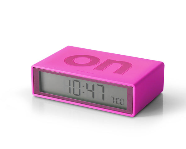 flip alarm clock pink soho 100 design shop. Black Bedroom Furniture Sets. Home Design Ideas