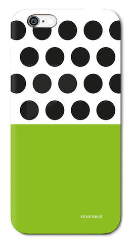 iPhone 6 Mobilecase - Dots and Green