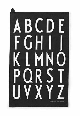 Design Letters Towel Set- Black
