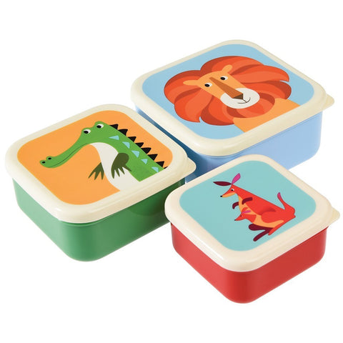 Set of 3 Colorful Creatures Snack Boxes