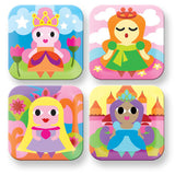 Kids Princess Square Plate- Pink