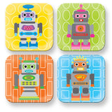 Kids Robot Square Plate- Green