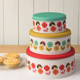Mid Century Poppy Cake Tin Set