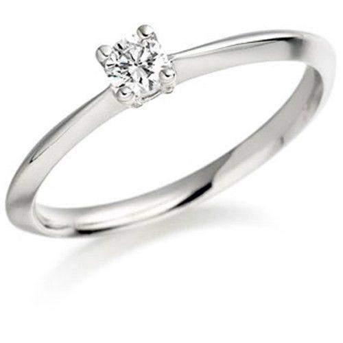 0.15ct Round Diamond Engagement Ring - Various Metals Available - EN53R15-Ogham Jewellery