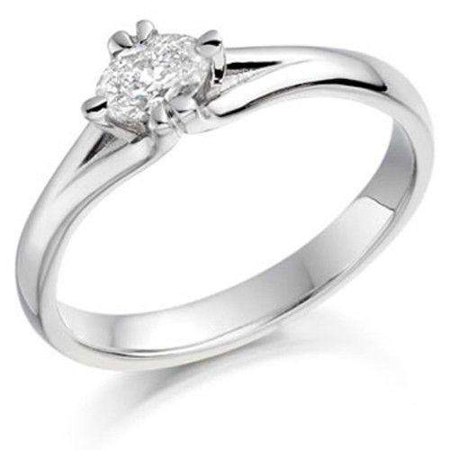 0.25ct Oval Diamond Engagement Ring - Various Metals Available - EN67OV25-Ogham Jewellery