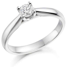 0.25ct Round Diamond Engagement Ring - Various Metals Available - EN66R25-Ogham Jewellery