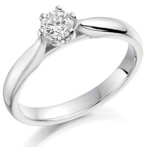 0.25ct Round Diamond Engagement Ring - Various Metals Available - EN69R25-Ogham Jewellery