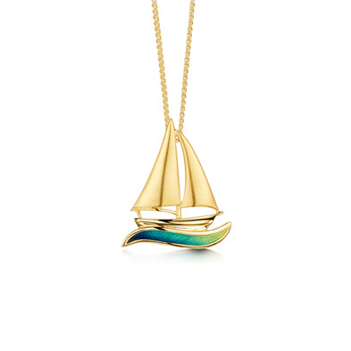 Orkney Yole 18ct Yellow Gold Pendant - EP250