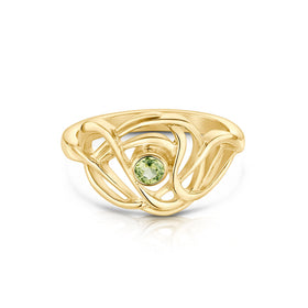 Tidal 9ct Gold Stoneset Ring - SR155