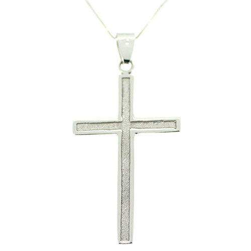 14 Carat White Gold Cross- WG14