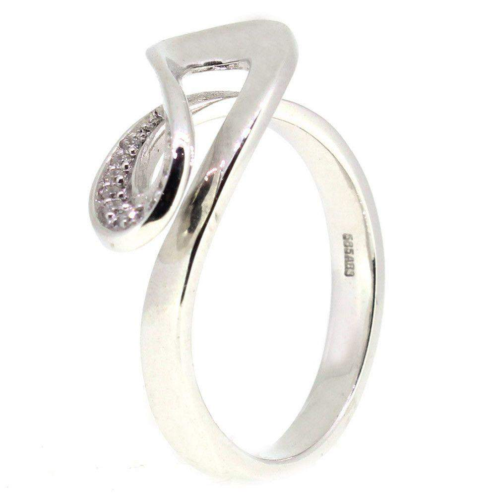 14 Carat White Gold Diamond Ring 4109407-Ogham Jewellery