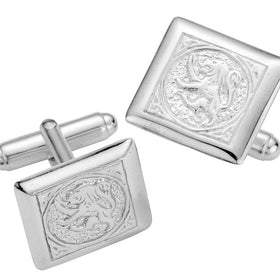 Silver Lion Rampant Relief Cufflinks - NO149
