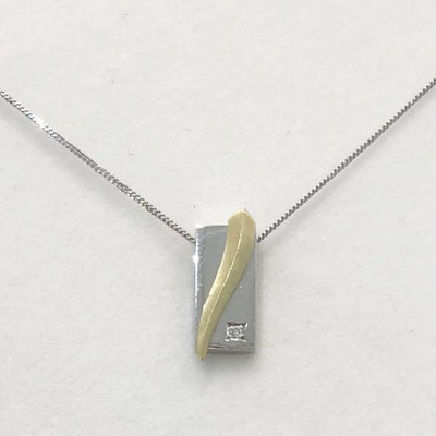 14ct Gold And Diamond Pendant - 10790-Ogham Jewellery