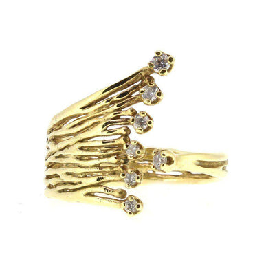 14ct Gold & Diamond Designer Ring -121D-Ogham Jewellery
