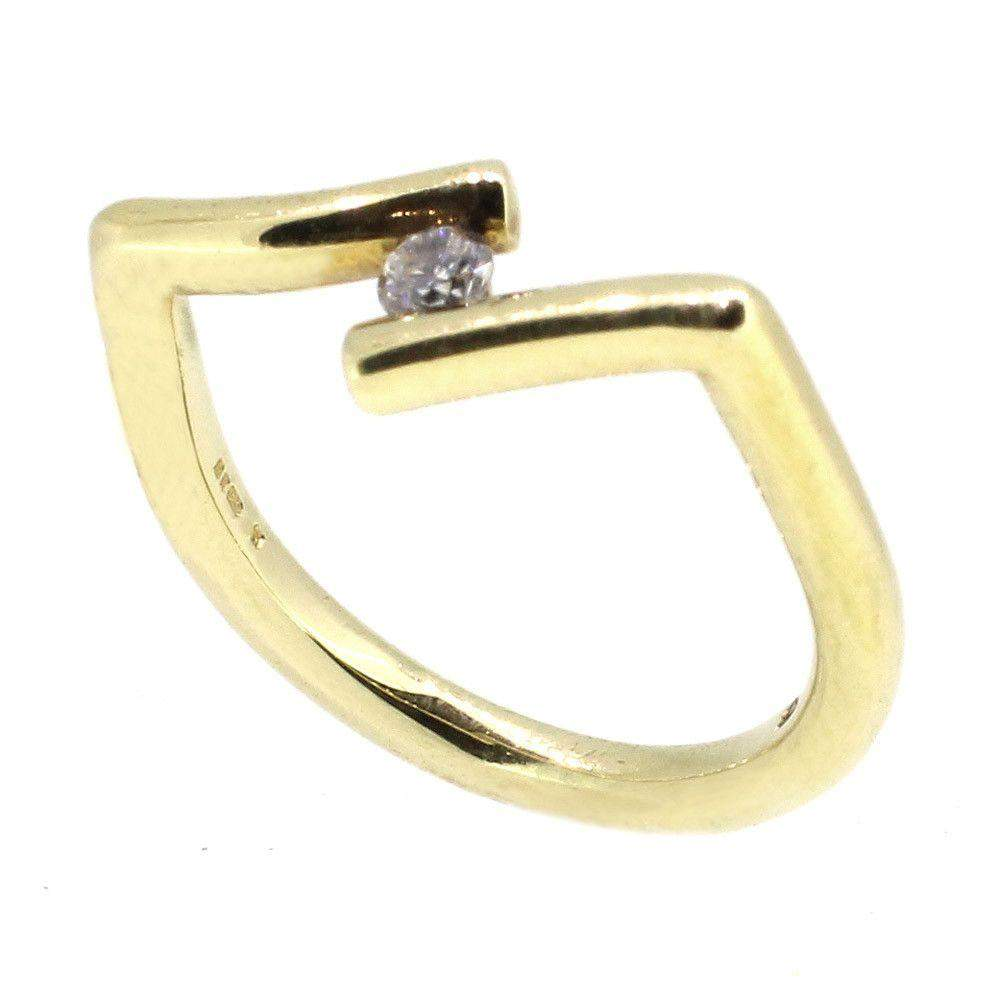 14ct Gold & Diamond Designer Ring-9520-Ogham Jewellery