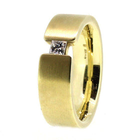 14ct Yellow Gold & Diamond Designer Ring-Ogham Jewellery