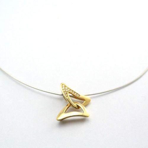 18 Carat gold & Diamond Butterfly Necklace-Ogham Jewellery