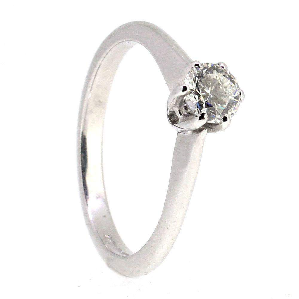18 Carat White Gold And Diamond Engagement Ring -13850-Ogham Jewellery