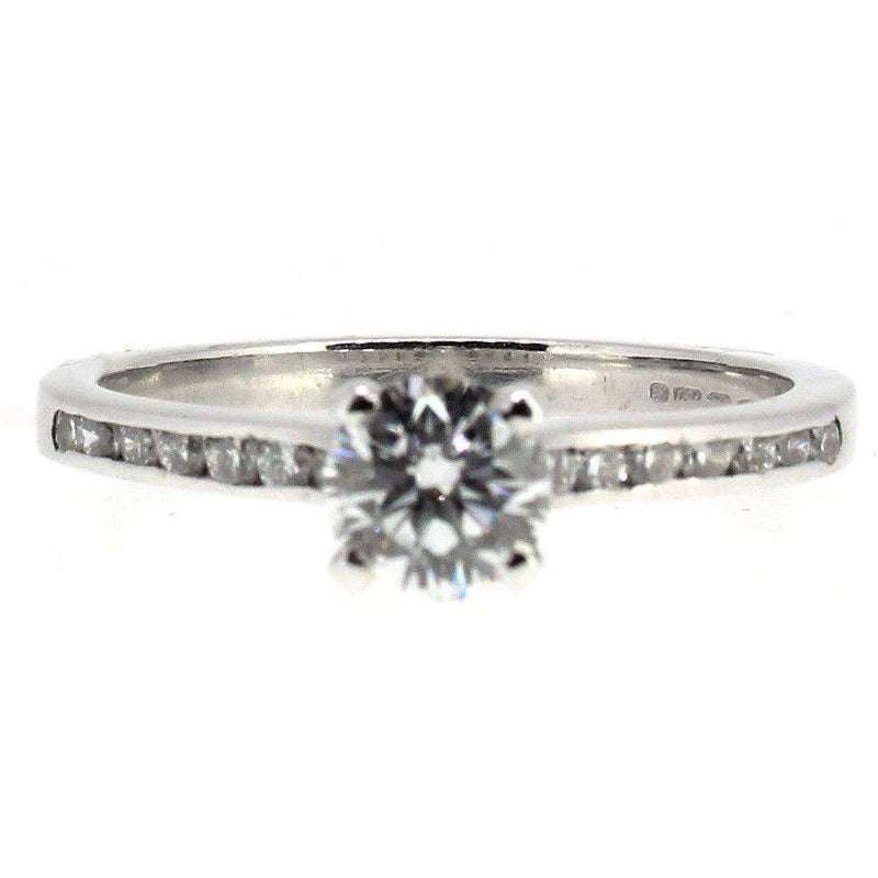 18 Carat White Gold And Diamond Engagement Ring