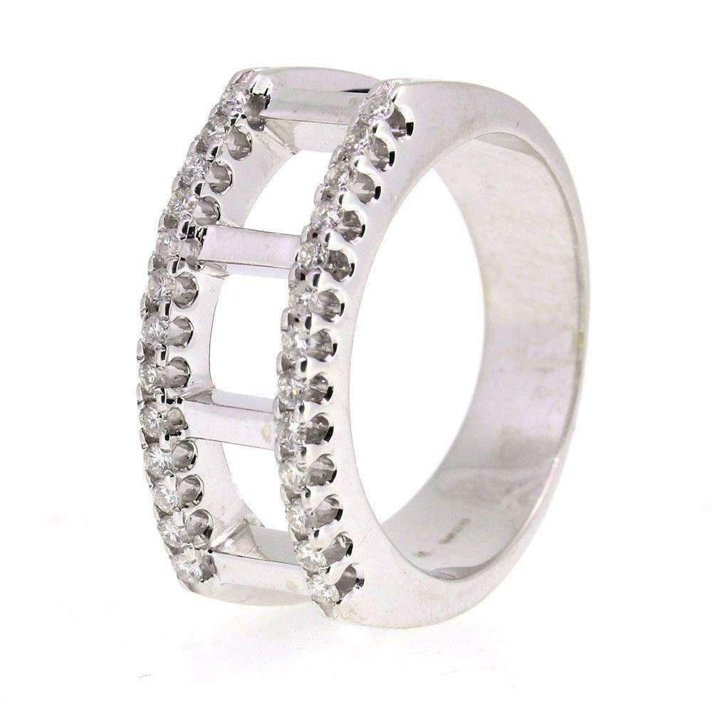 18 Carat White Gold And Diamond Ring -2419-Ogham Jewellery