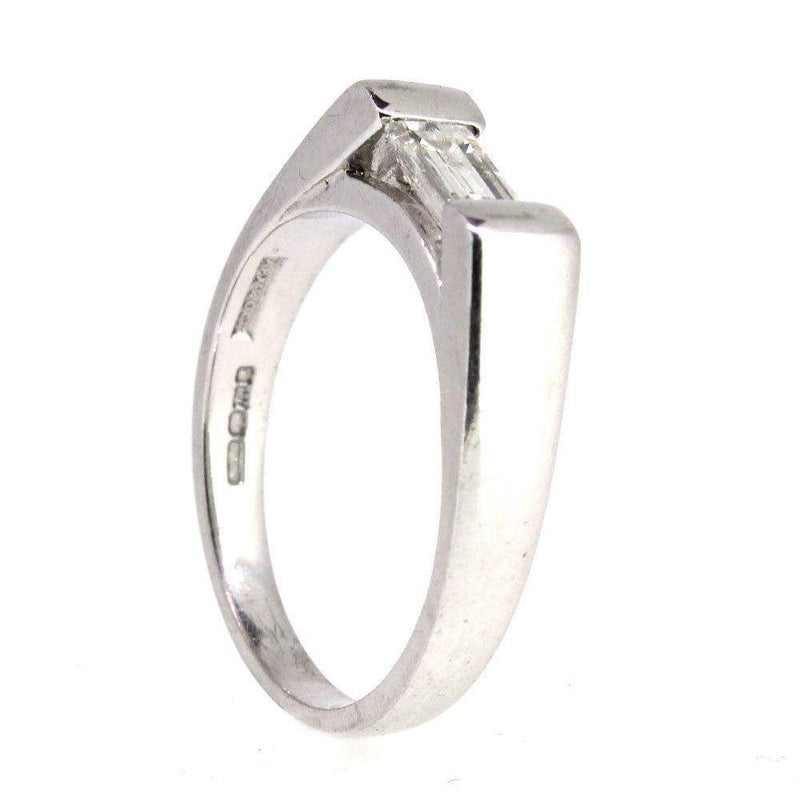 18 Carat White Gold And Diamond Ring -9746-Ogham Jewellery