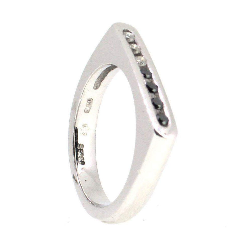18 Carat White Gold diamond ring-Ogham Jewellery