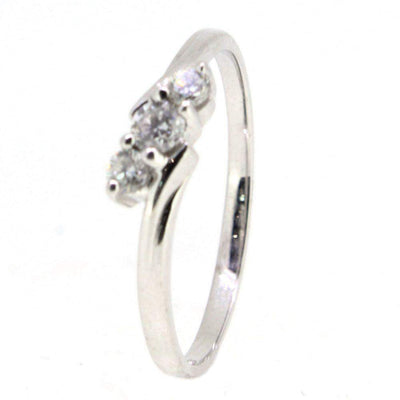 18 Carat White Gold Trilogy Engagement Ring-Ogham Jewellery
