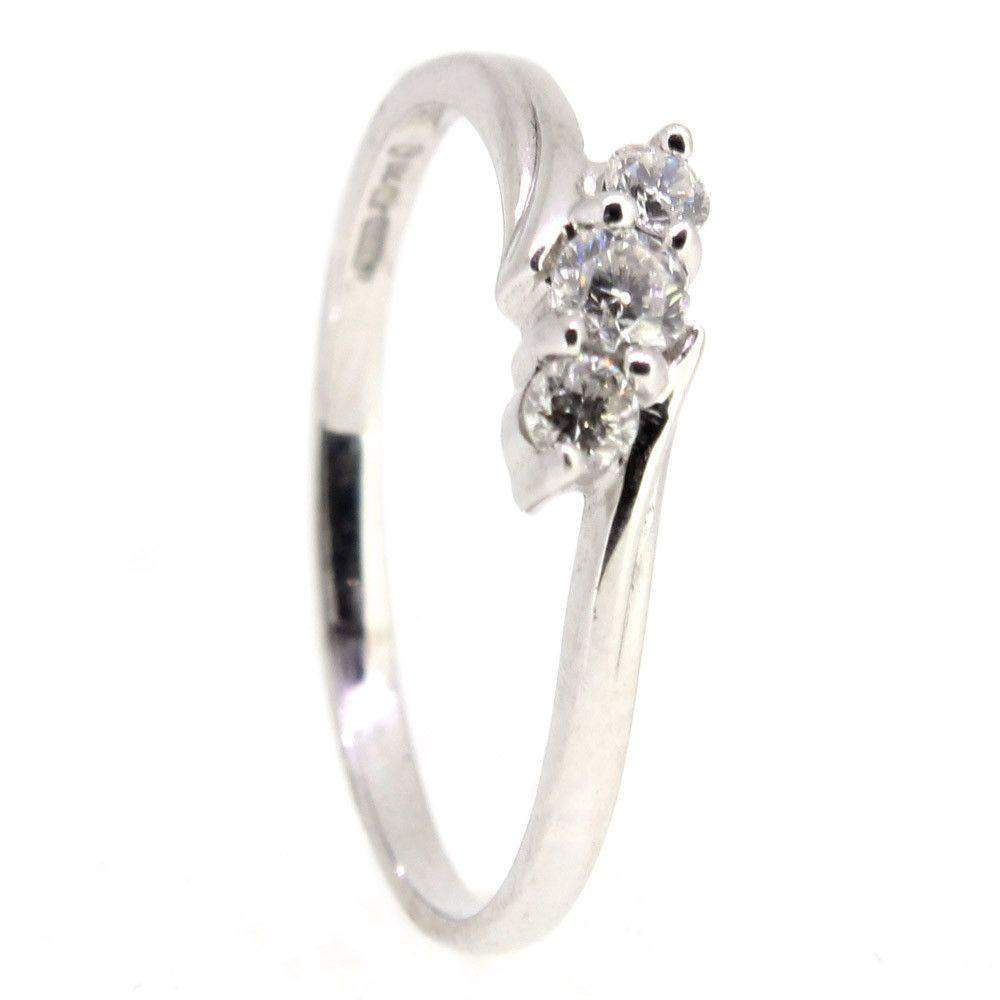 18 Carat White Gold Trilogy Engagement Ring