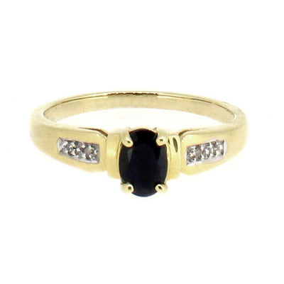 18 Carat Yellow Gold Diamond and Sapphire Dress Ring-Ogham Jewellery