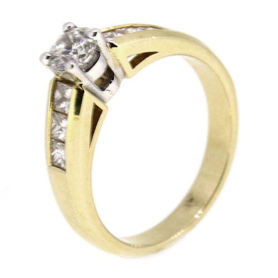 18ct Gold And Diamond Engagement Ring 0.75ct-Ogham Jewellery