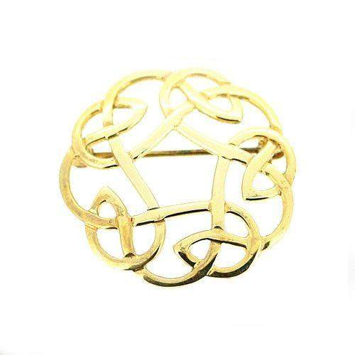 18ct Gold Celtic Brooch - GB268 ORT-Ogham Jewellery