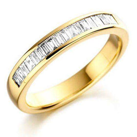 18ct Gold White Gold or Platinum Baguette Diamond Half Eternity Ring 0.33ct HET133-Ogham Jewellery