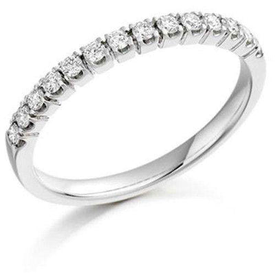 18ct Gold, White Gold or Platinum Round Diamond Half Eternity Ring 0.25ct - HET178-Ogham Jewellery