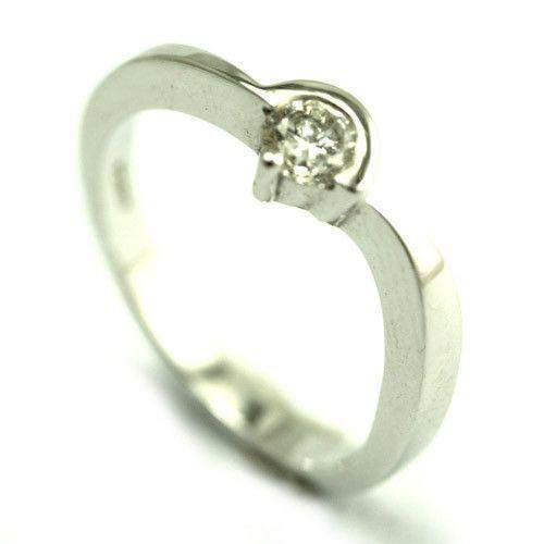 18ct White Gold 0.25ct Solitaire Diamond Engagement Ring-Ogham Jewellery