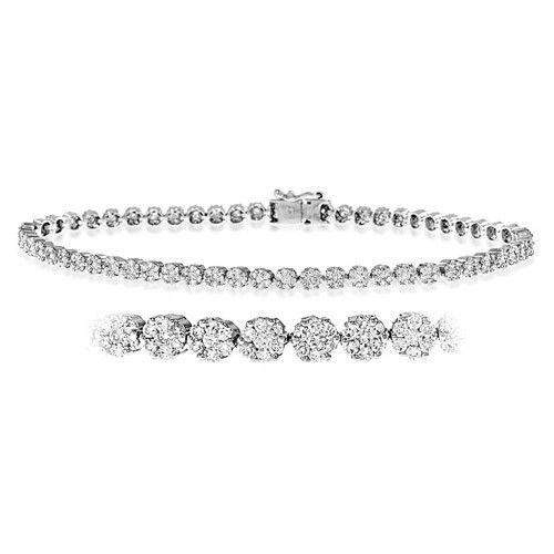 18ct White Gold & Diamond Bracelet 2.00-7.00ct - DBR03-2HSW