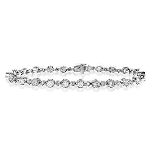18ct White Gold & Diamond Bracelet - H1111
