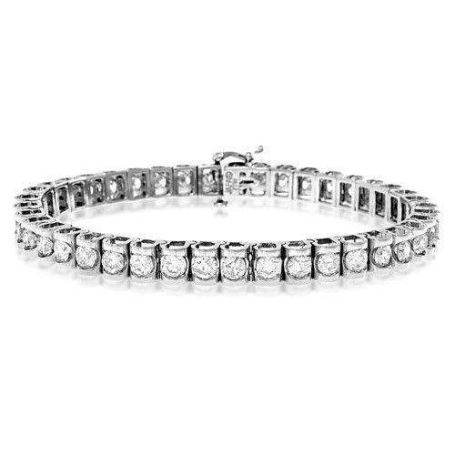 18ct White Gold & Diamond Bracelet - H1113-Ogham Jewellery