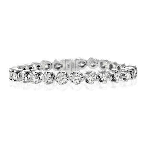 18ct White Gold & Diamond Bracelet - H1114