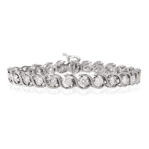 18ct White Gold & Diamond Bracelet - H1116