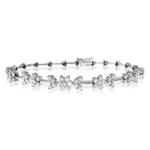 18ct White Gold & Diamond Bracelet - H1121